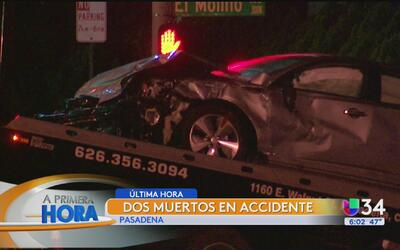 Aparatoso accidente dejó fallecidos en Pasadena
