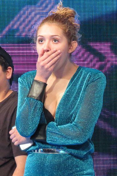 ¡Pero muy sorprendida a Paloma!
