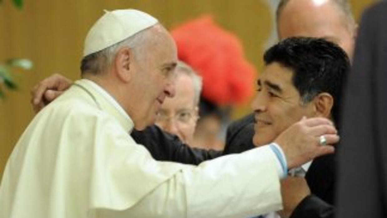 El Papa recibió en audiencia privada al exfutbolista.