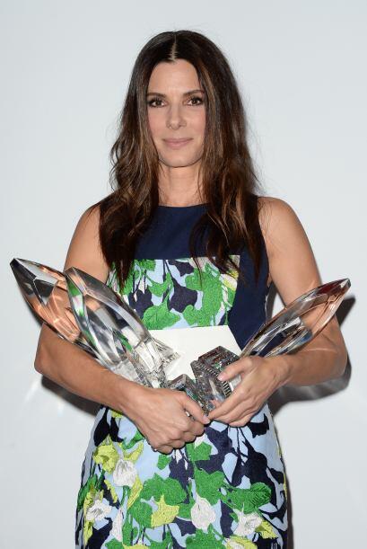 Bullock fue la gran ganadora de la noche, con tres preseas: Actriz favor...