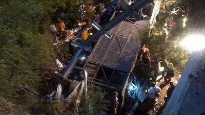 Mueren al menos 43 gendarmes tras desbarrancarse autobús en Argentina