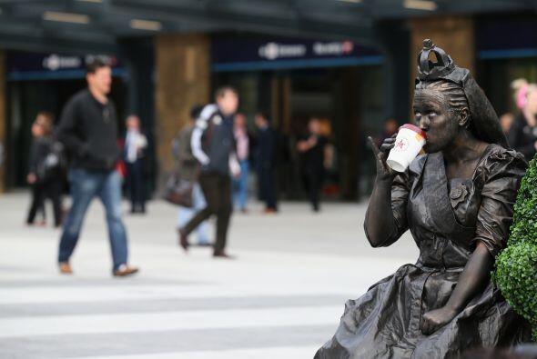 Otra estatua victoriana muy humana.