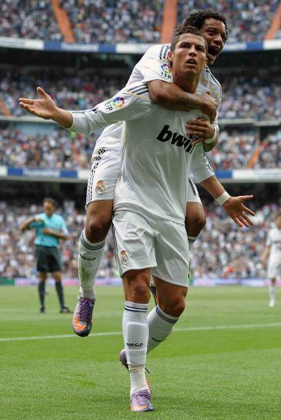 El portugués marcó un doblete y con otro tanto de Marcelo el Real Madrid...