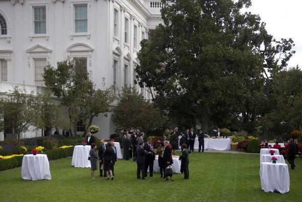Se tenía esperado que Obama diera un discurso a los medios luego...