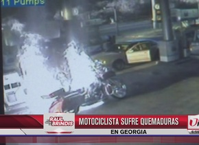 Motociclista sufrió quemaduras al poner gasolina