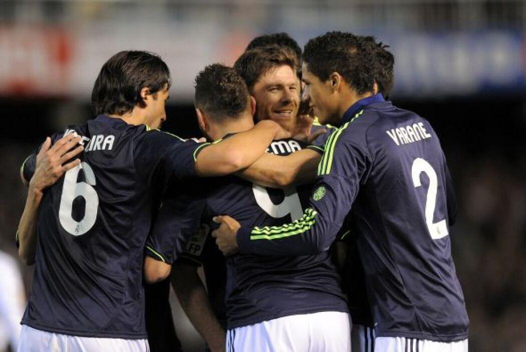 Tras la anotación del '9' merengue, el Madrid volvió a mostrar la unión...