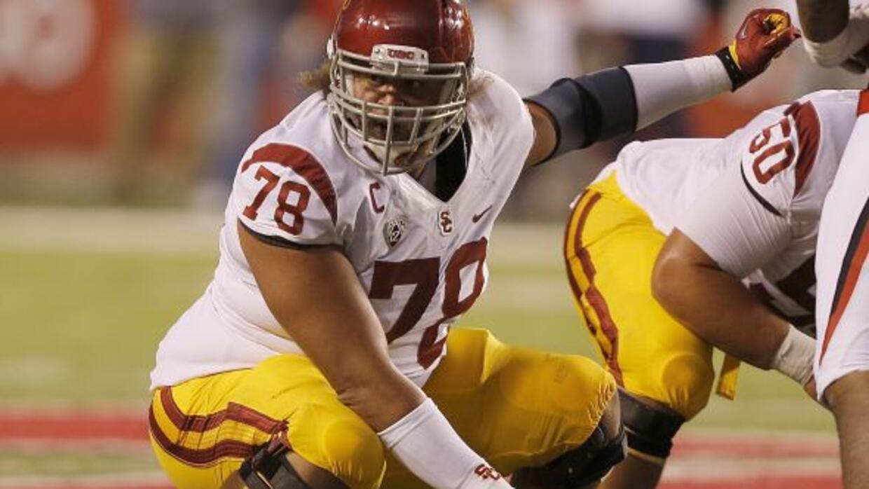 Jugadores como Khaled Holmes, de la Universidad del Sur de California, t...
