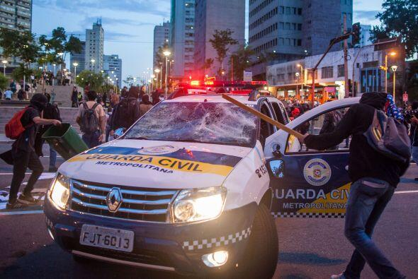 En Natal, en el estado Rio Grande, 15 personas fueron arrestadas.