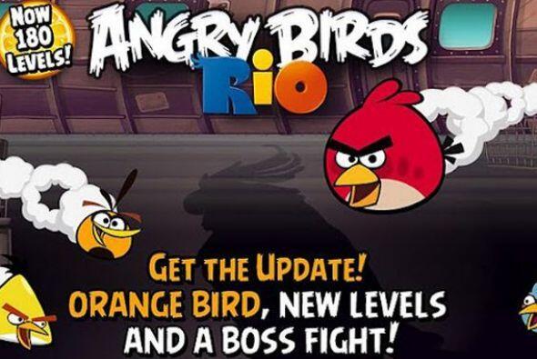 Los pájaros furiosos arrasaron en móviles. Angry Birds Rio fue la app má...