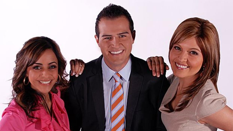 Los nuevos presentradores: Crystal Ayala, Miguel Bedoy y Sandra Bermúdez.