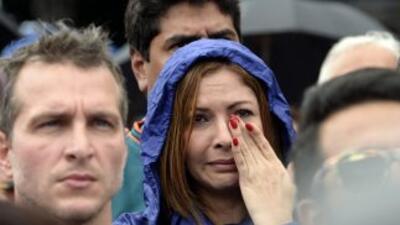 Venezolanos durante una protesta por el asesinato de la actriz Mónica Sp...
