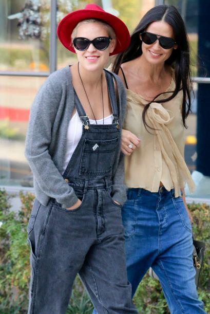 Algunos tendrán sus dudas, si las hijas de Demi se parecen a ella o no.