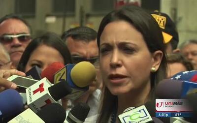 María Corina continúa declarando en la Fiscalía