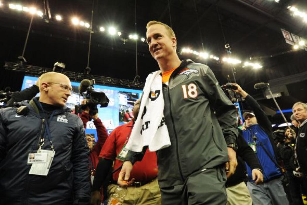 La estrella de los Broncos, Peyton Manning.