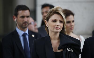 La primera dama Angélica Rivera en una ceremonia por el Dí...