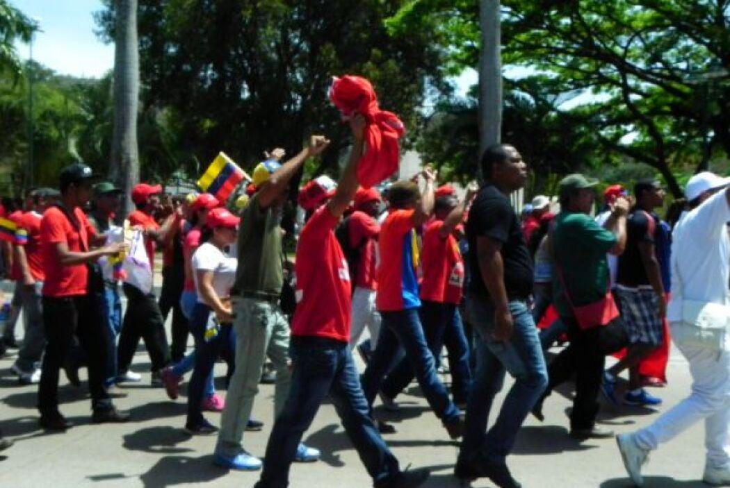 Caravana fúnebre de Hugo Chávez