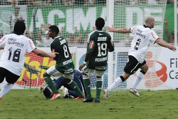 Corinthians, eliminado de la Copa Libertadores derrotó al Palmeiras 1-0...