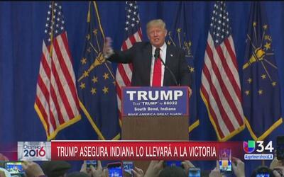 Donald Trump asegura triunfo en Indiana
