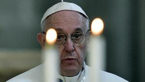 El papa Francisco en la Catedral de la Ciudad de México.