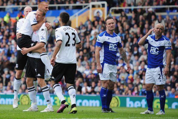 Hangeland marcó por partida doble y de este modo su equipo se imp...