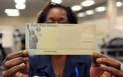 Muestra de los cheque del SSA que imprime el Departamento del Tesoro.