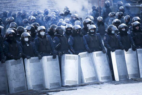 La policia pretende desalojar a los protestantes, Klitschko ha amenazado...