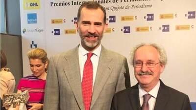 El Rey de España le entrega premio a UnivisionNoticias.com