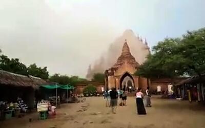 En video: un terremoto en Myanmar estremece los templos budistas