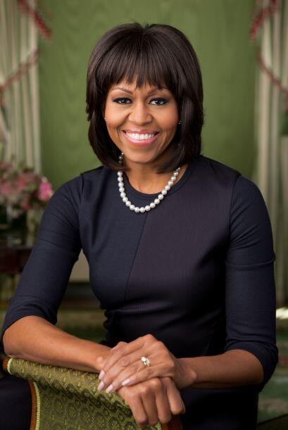 Este es el retrato oficial de la primera dama, tomado en la Sala Verde d...