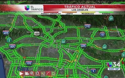 Tráfico afectado sobre la 15 Sur cerca de la autopista 91