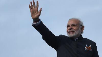 Narendra Modi llega a Pakistán.