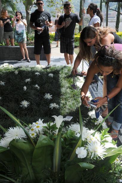 En los últimos días, decenas de personas visitaron su tumba ya sea para...
