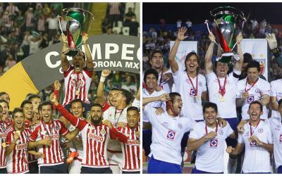 Cruz Azul y Guadalajara fueron camóenes de Copa MX en el Apertura...