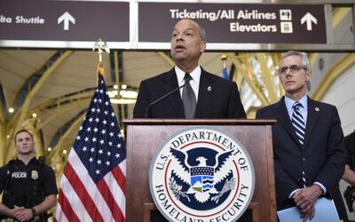 Jeh Johnson, Department of Homeland Security chief.