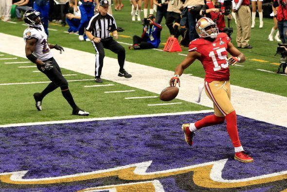 Los 49ers apretaron el acelerador con pase de 31 yardas de Kaepernick a...