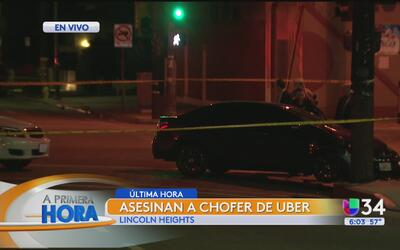Conductor fue asesinado en Lincoln Heights