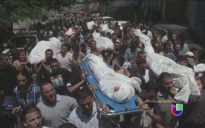 Las condiciones en que están viviendo los residentes en Gaza