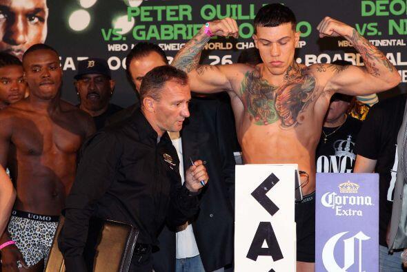 Gabriel Rosado pesó las 160 libras exactas.