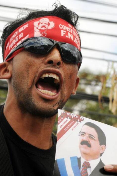 El FRNP condena el golpe de Estado de 2009 que acaparó los titulares de...