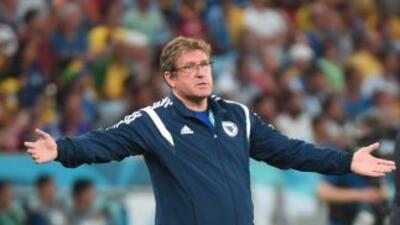 Safet Susic durante el partido de Bosnia Herzegovina ante Argentina.