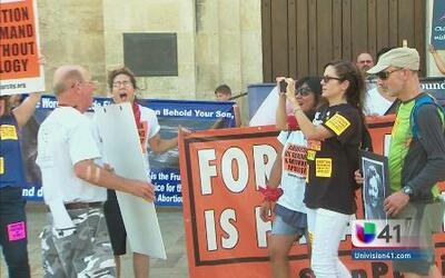 Manifestaciones por ley antiaborto