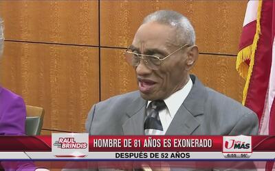 Hombre exonerado después de 52 años