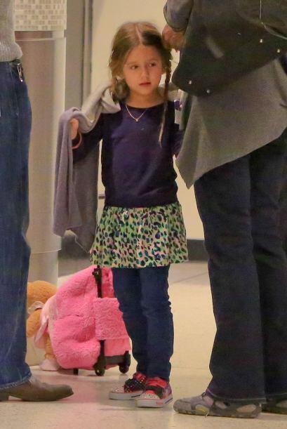 También vimos a una de sus hijitas, Lucia.
