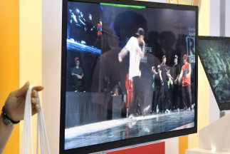 Una pantalla de plasma Samsung.