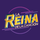 Logo la reina de la cancion social media follow