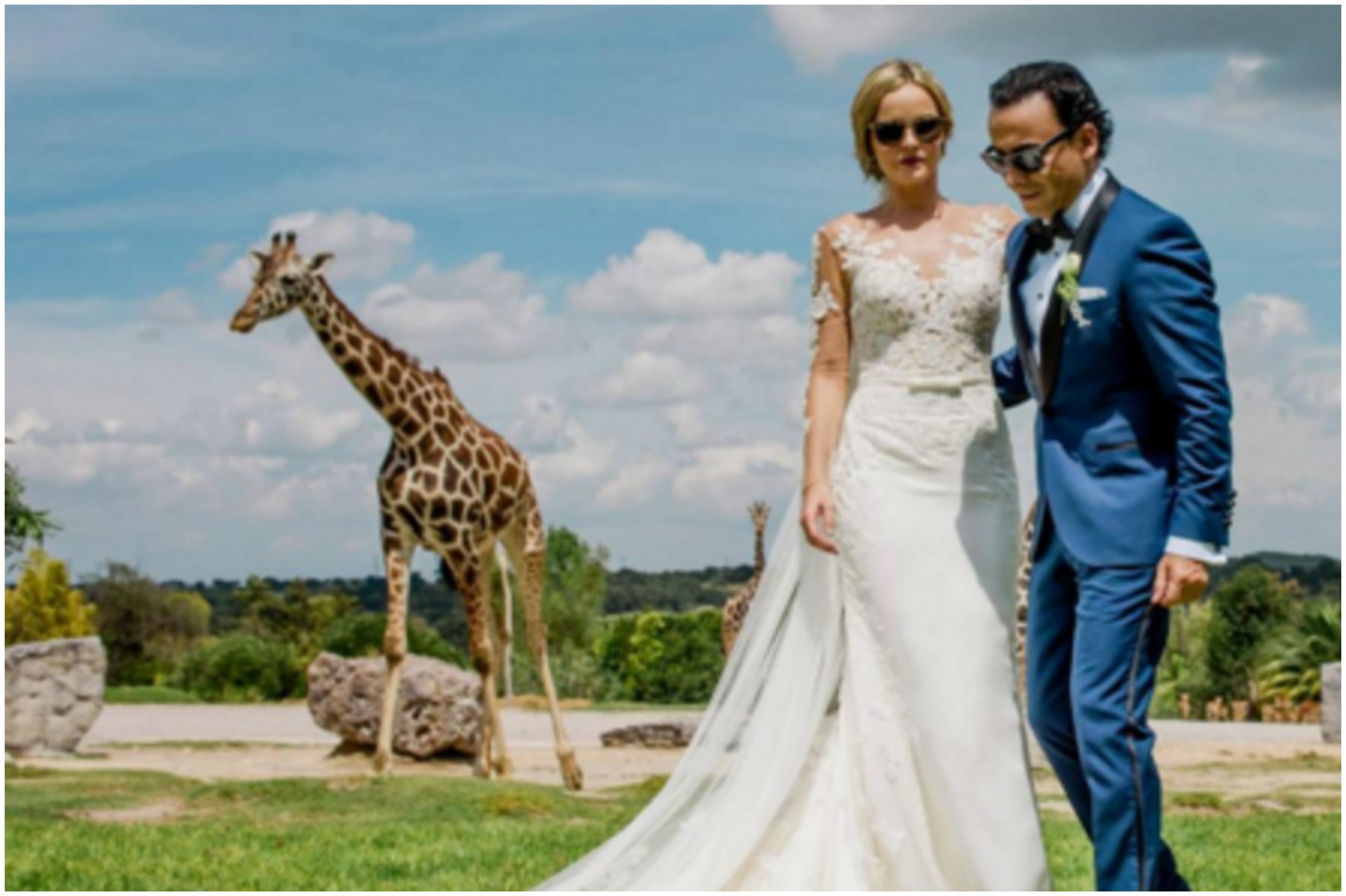 Adal Ramones se casó con Karla de la Mora con jirafas como testigos ...