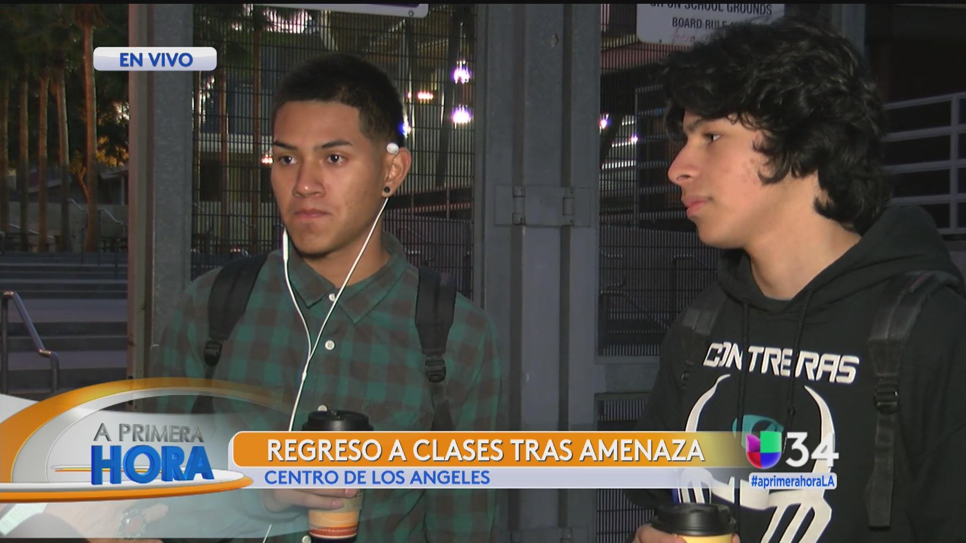 Jóvenes listos para regresar a clases en Los Ángeles - Univision 34 ...