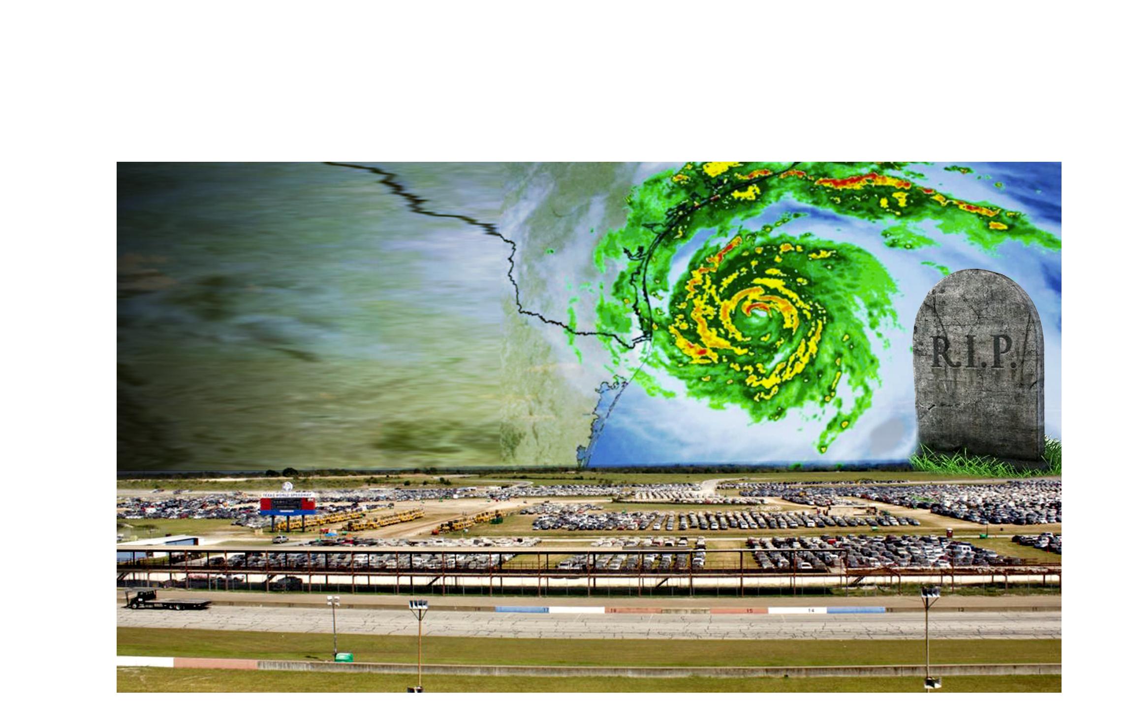 Aquí fueron a parar los autos inundados por el huracán Harvey en ...