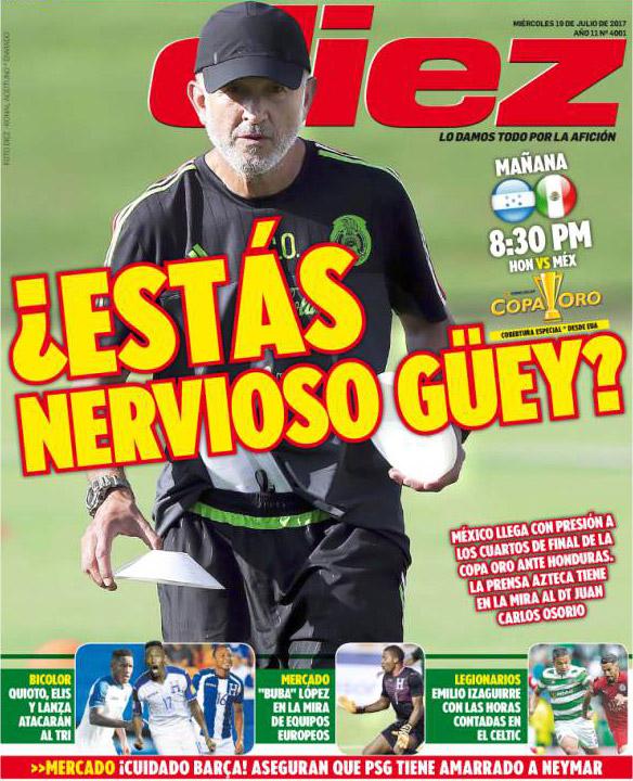 El Periódico Deportivo Más Importante De Honduras Provoca A México Y A Osorio