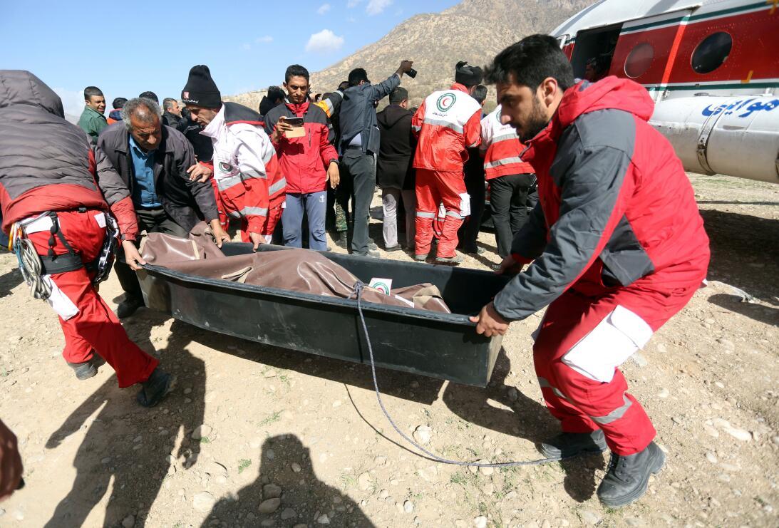 Avión caído en Irán